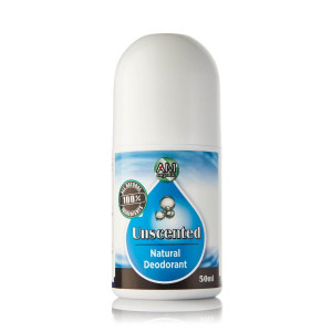 Unscented natural roll-on deodorant