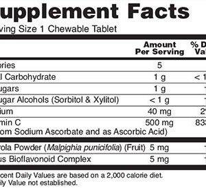 Vitamin C-500 Orange Chewable Tablets