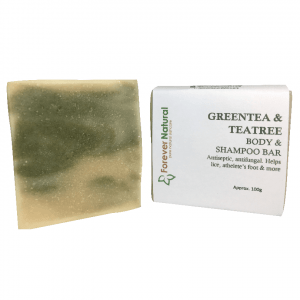 Body and Shampoo Bar – Green Tea, Tea tree