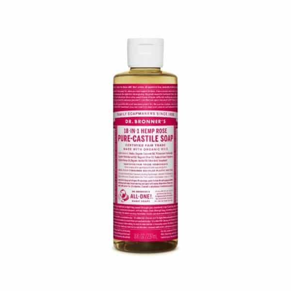 18 in 1 Hemp – Rose Castile Soap Liquid