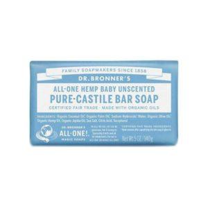 Soap Bar -18 in 1 Hemp – Baby Unscented Castile